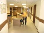 сборка офисной мебели, интерьер кабинета
